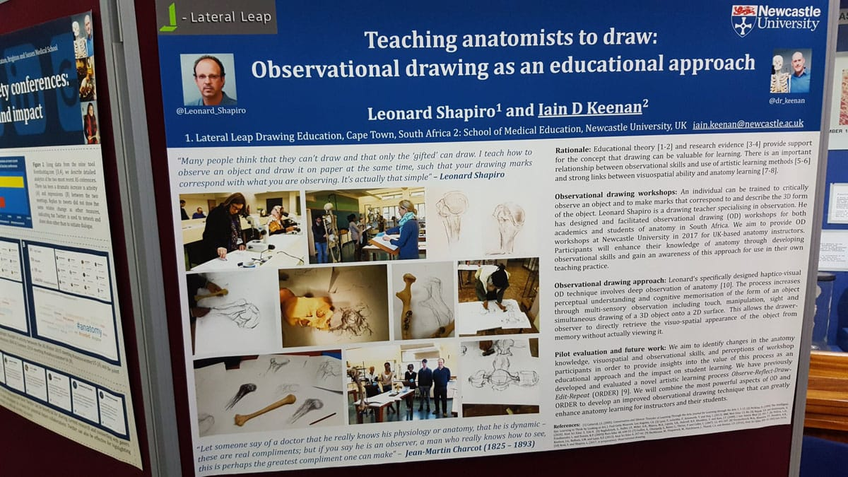 Poster presentation on ORDER and HVO&D, by Dr Iain Keenan, at the Anatomy Society Winter Meeting 2016, Kings College London